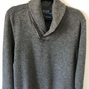 POLO RALPH LAUREN LAMBS WOOL shawl collar sweater